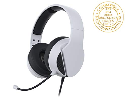 Subsonic Casque Gaming avec Micro Accessoire Gamer pour Playstation 5 Blanc