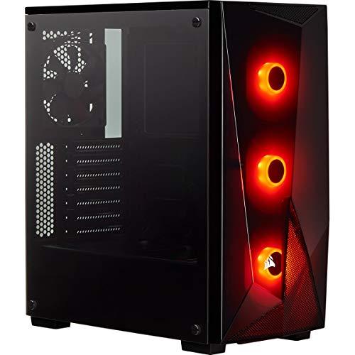 Corsair SPEC-DELTA, Carbide Series, RGB en Verre Trempé Moyen-tour Boîtier Gaming - Noir