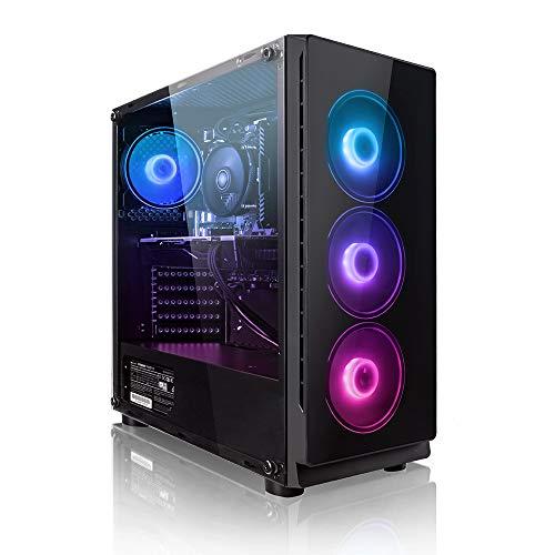 Megaport PC Gamer Platin AMD Ryzen 5 3500X 6X 3,60 GHz • GeForce GTX1660 6Go • 16Go DDR4 • 240Go SSD • 1To • Windows 10 Home • WiFi • USB3.0 Unité Centrale Ordinateur de Bureau PC Gaming