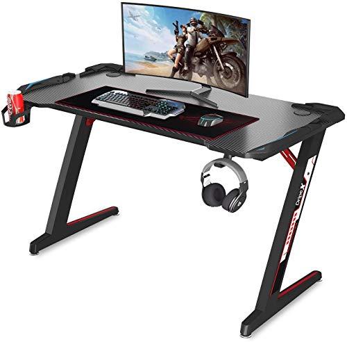 Dripex Bureau Gaming Bureau Gamer PC Informatique Table de Jeu Pro 113 cm...