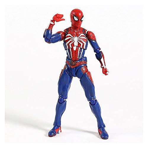 WXFQX PS4 Game Spiderman Advanced Ver Ver.PVC Action Figure SHF Spider Man Model Jouet Cadeaux pour Les Enfants