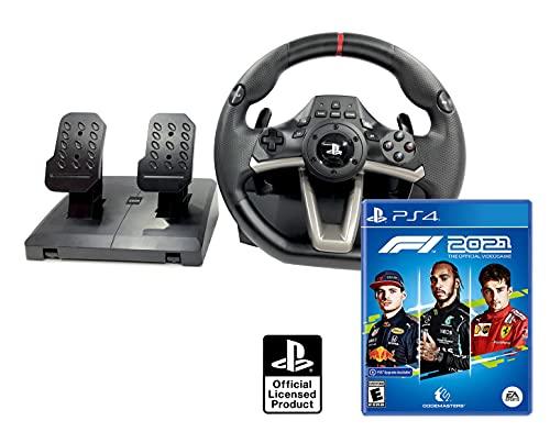 Volant et pédales PS4 PS5 Originale Sous licence PlayStation 4 RWA Apex + Formule 1 2021 / F1 2021 PS4 PS5