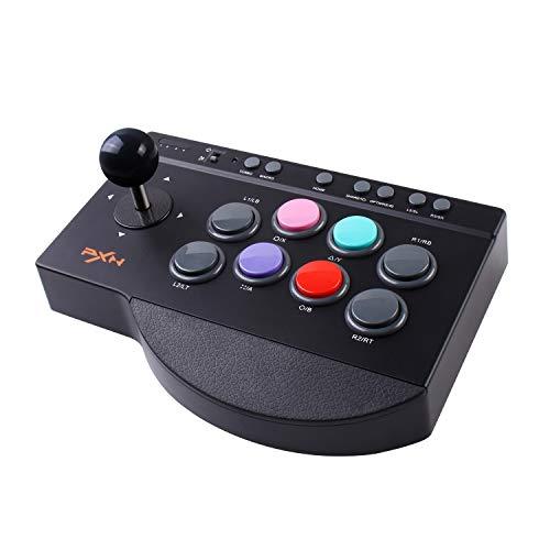 Arcade Fight Stick, PXN Street Fighter Arcade Game Fighting Joystick avec port USB, avec fonctions Turbo et Macro, convient pour PS3 / PS4 / XBOX ONE / Nintendo Switch / PC Windows.