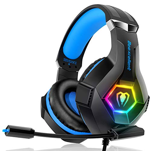 Casque Gaming PS4, Casque Gaming Xbox one Professionnel RGB 7 Couleurs...