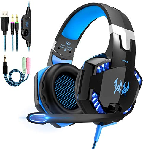 Micro Casque Gaming PS4,Casque Gamer Xbox One avec Micro Anti Bruit LED...