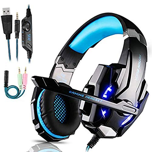 Micro Casque Gaming PS4, Casque Gaming Switch avec Micro Anti Bruit Casque...