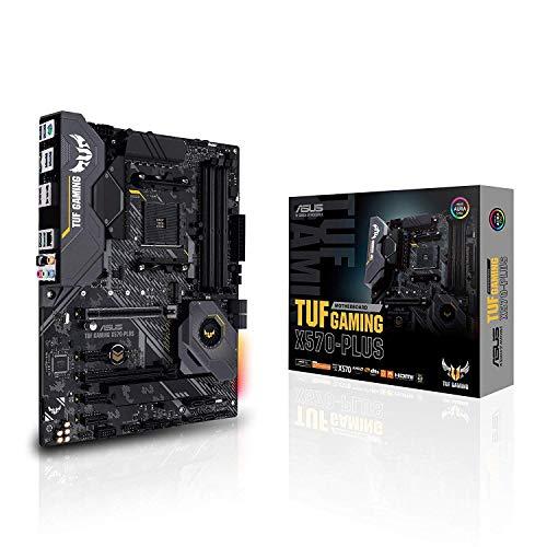 ASUS Carte Mère Gaming TUF Gaming X570-Plus AMD AM4 Ryzen 3000 (PCIe 4.0 M.2 12+2 Dr. MOS DDR4 LAN HDMI DP CFX USB 3.2 Gen 2 Type-A Type-C Aura Sync RGB ATX)