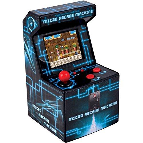 ITAL - Mini Arcade Retro / Borne Portable Geek avec 250 Jeux Intégrés / 16 Bits / Gadget Parfait comme Cadeau pour Enfants Et Adultes (Bleu)