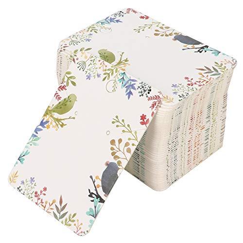 Tianhaik 100 Pcs Bijoux Affichage Cartes Oreille Goujon Boucle D'oreille Collier Affichage Titulaire Suspendu Stockage Papier Carte