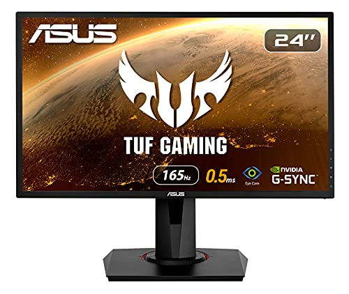 ASUS VG248QG - Ecran PC gaming eSport 24' FHD - Dalle TN - 16:9 - 165Hz - 0,5ms - 1920x1080 - 350cd/m² - Display Port, HDMI et DVI - AMD FreeSync - Nvidia G-Sync - Haut-parleurs